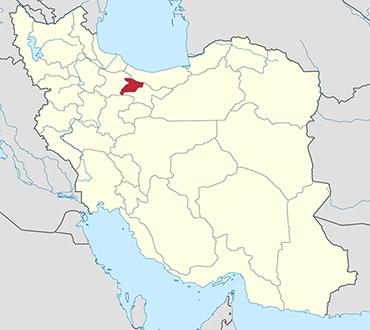 Alborz location in Iran's map