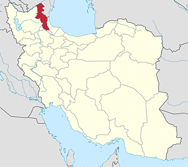 Ardabil location in Iran's map