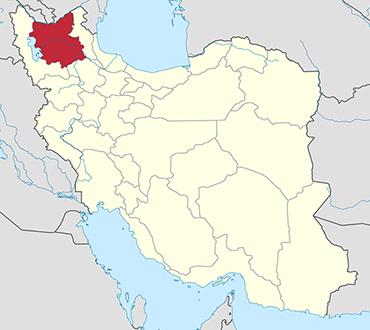 East Azerbaijan location in Iran's map
