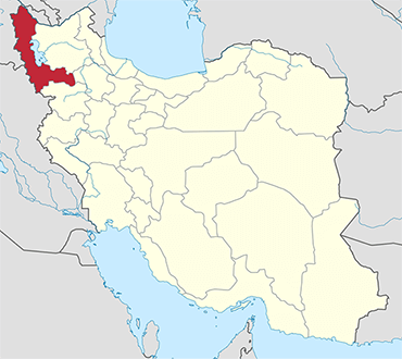 West  Azerbaijan location in Iran's map
