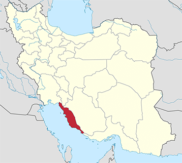 Bushehr location in Iran's map