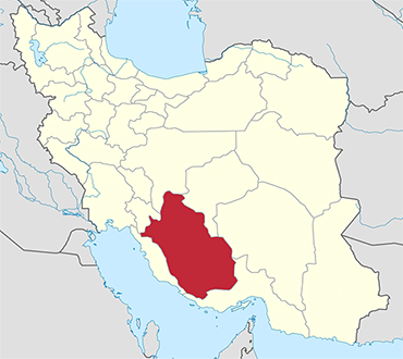 Fars location in Iran's map