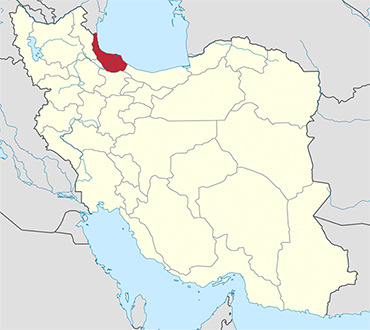 Gilan location in Iran's map