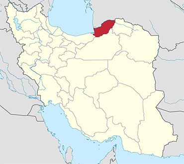 Golestan location in Iran's map