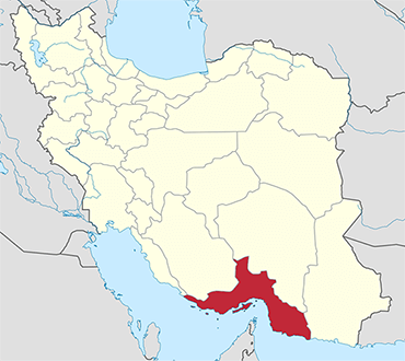 Hormozgan location in Iran's map