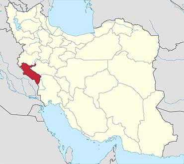 Ilam location in Iran's map