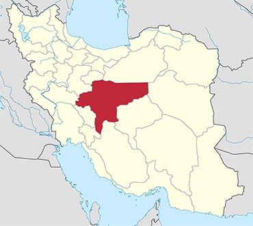 Isfahan location in Iran's map