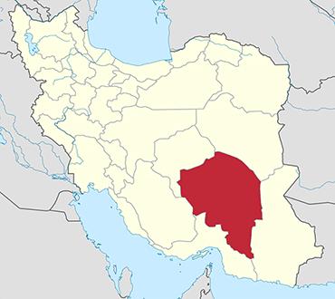 Kerman location in Iran's map