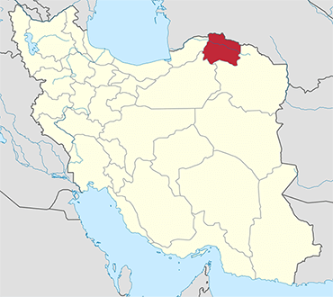 North Khorasan location in Iran's map