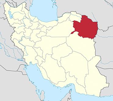 Razavi Khorasan location in Iran's map