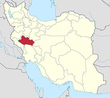 Lorestan location in Iran's map