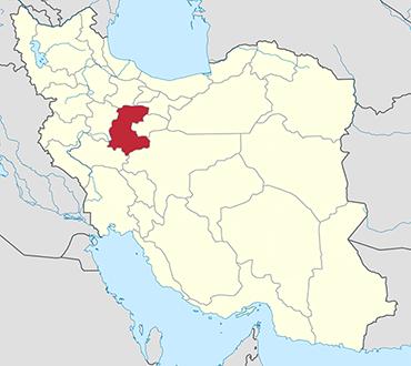 Markazi location in Iran's map