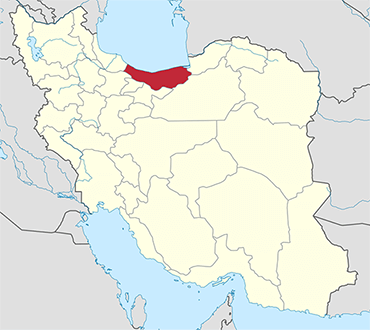 Mazandaran location in Iran's map