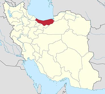 Mazandaran location in Iran's map
