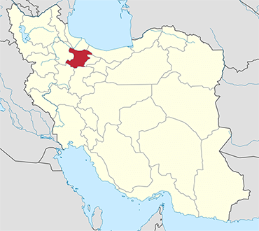Qazvin location in Iran's map