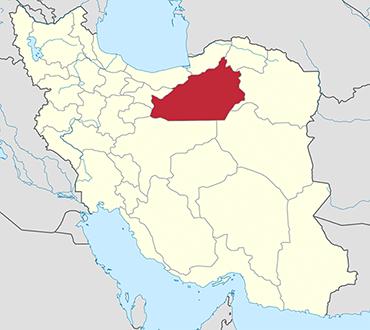 Semnan location in Iran's map
