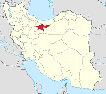 Tehran location in Iran's map
