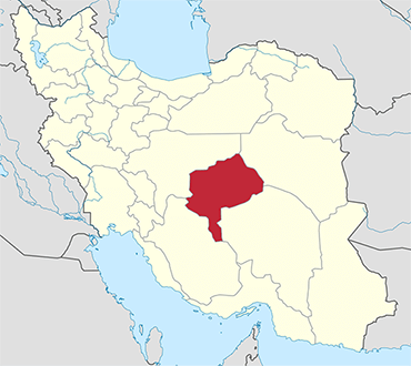 Yazd location in Iran's map