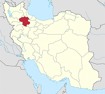Zanjan location in Iran's map