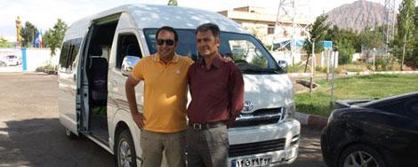 Driver guide in Iran