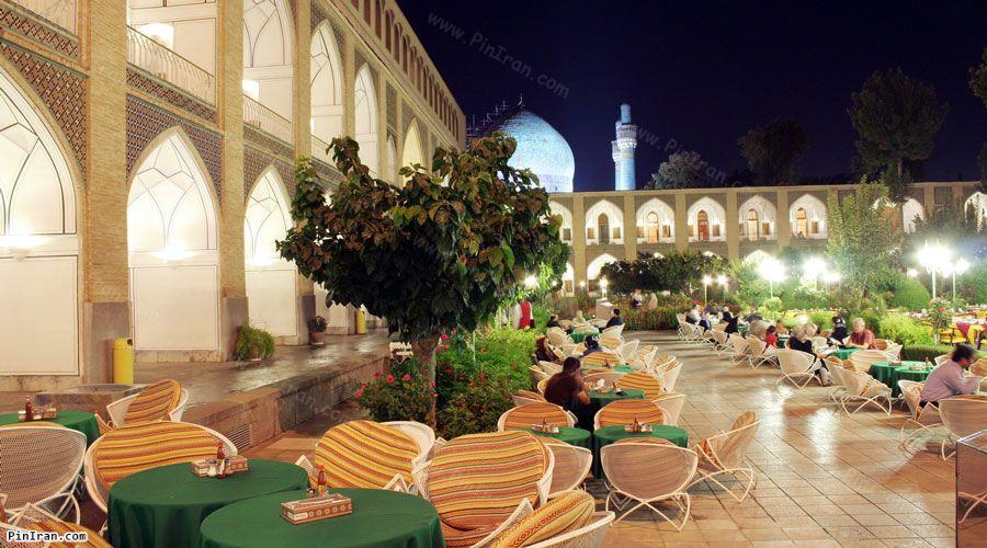Abbasi Hotel Isfahan Garden Night