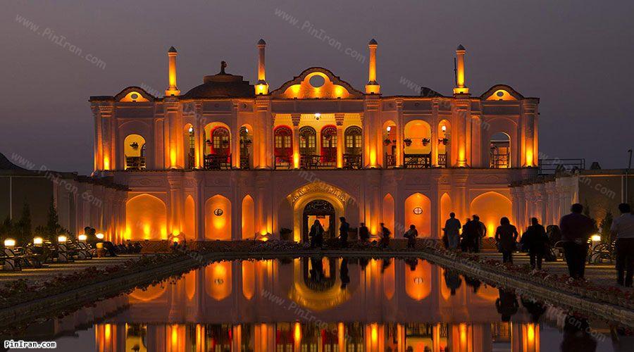 Fathabad Garden at night